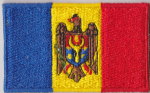 Moldova Embroidered Flag Patch, style 04